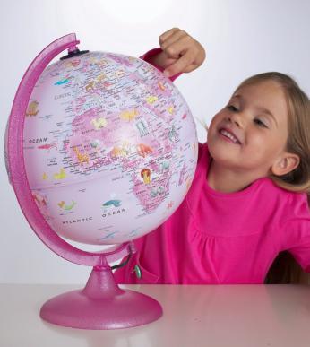 girl globe