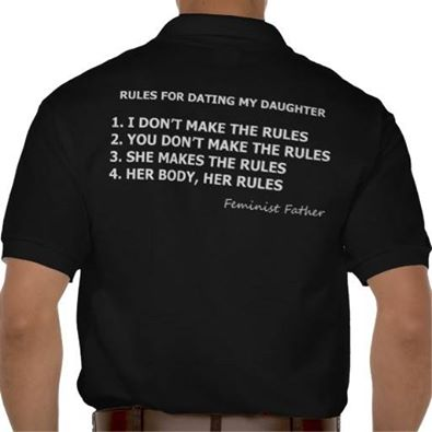 10 Rules For Dating my Daughter T-shirts