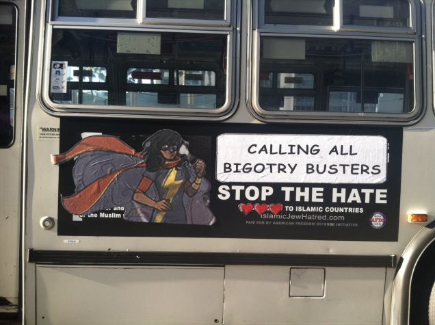 Ms. Marvel bus ad